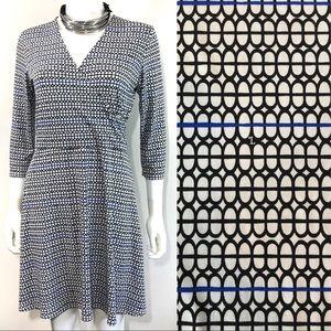 Leota New York Handmade Jersey Faux Wrap Dress